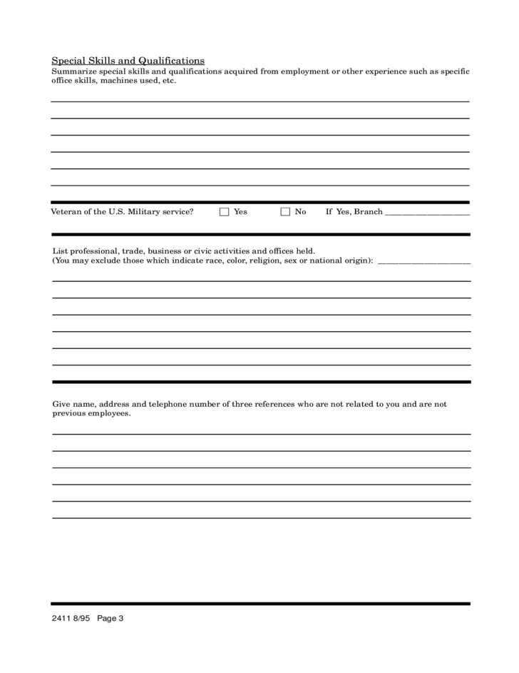 Ace Hardware Application For Employment Form Free Download