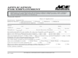 Ace Hardware Application for Employment Form