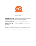 Sample Template for Return Policy Free Download