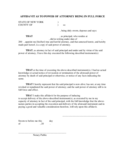Affidavit as to Power of Attorney Being in Full Force - New York