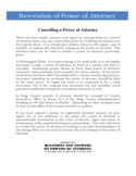 Revocation of Power of Attorney Form - Washington Free Download