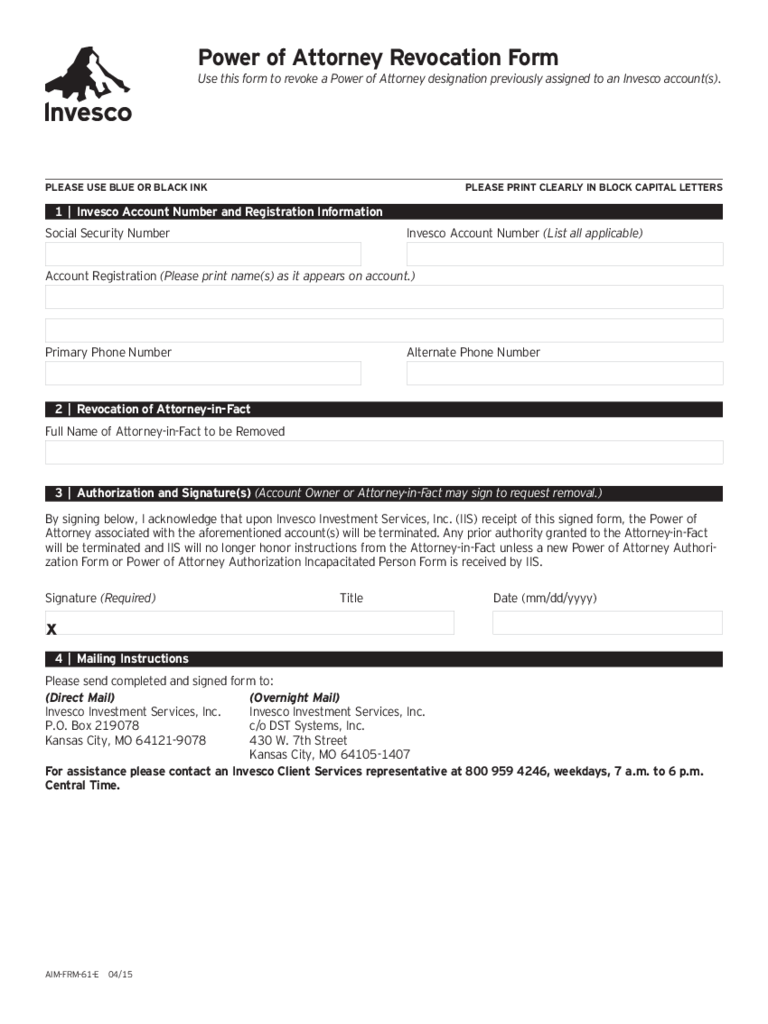 Revocation of power of attorney form 17 free templates in pdf power of attorney revocation form kansas falaconquin