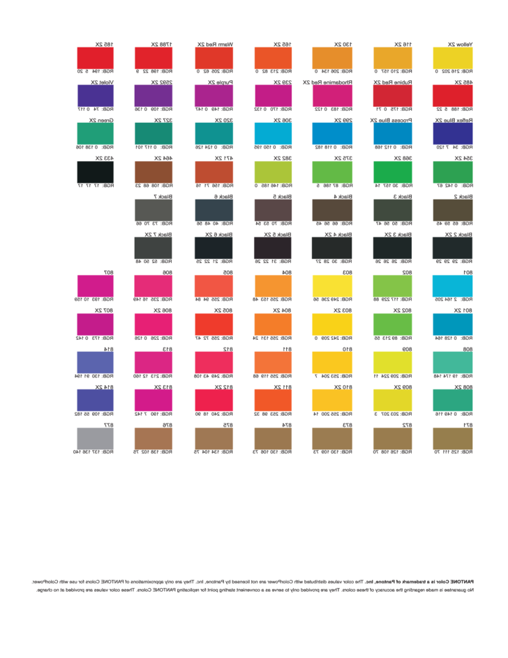 reverse rgb color chart free download