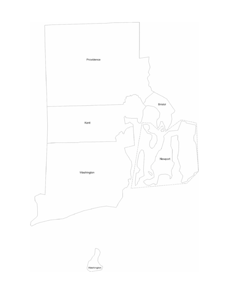 Rhode Island County Map with County Names