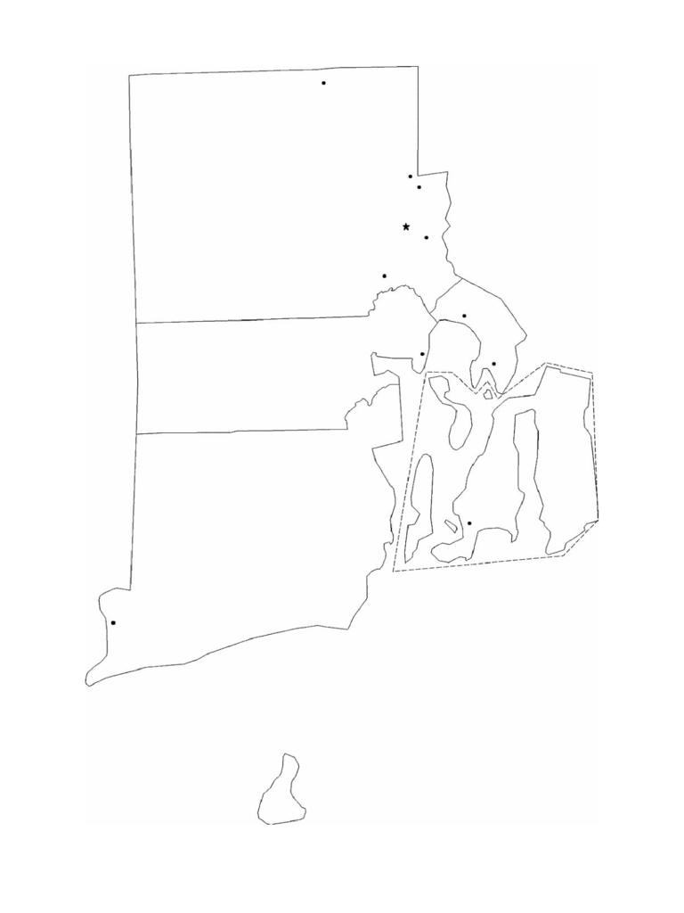 Blank Rhode Island City Map