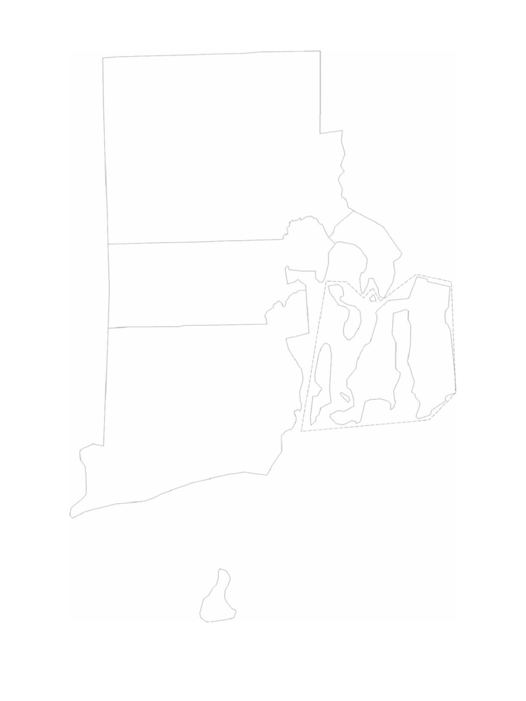 Blank Rhode Island County Map