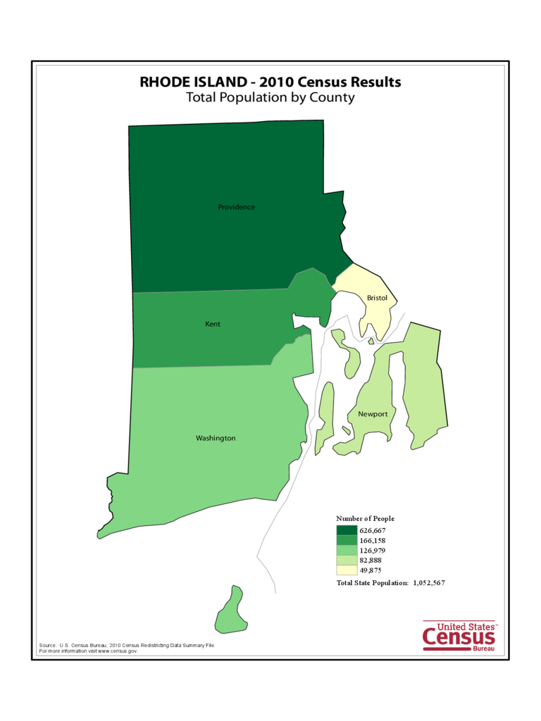 Rhode Island County Population Map