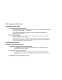 Risk Assessment Checklist Free Download