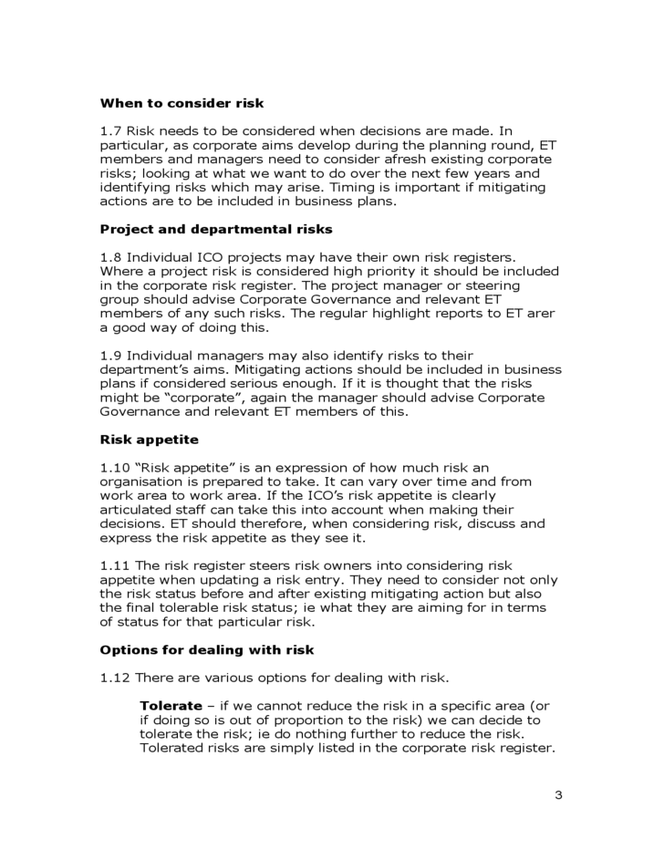 Risk Management Policy And Procedures Free Download