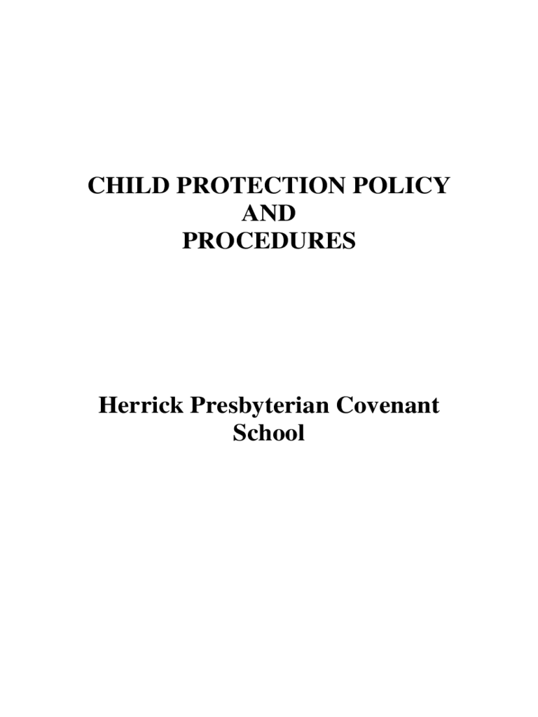 safeguarding policy template