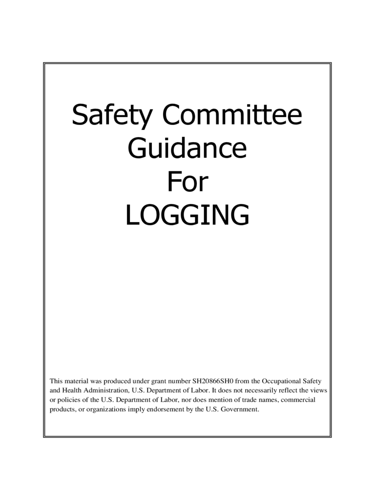 Safety Committee Guidance for Logging