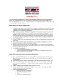 Safety Planning Template Free Download
