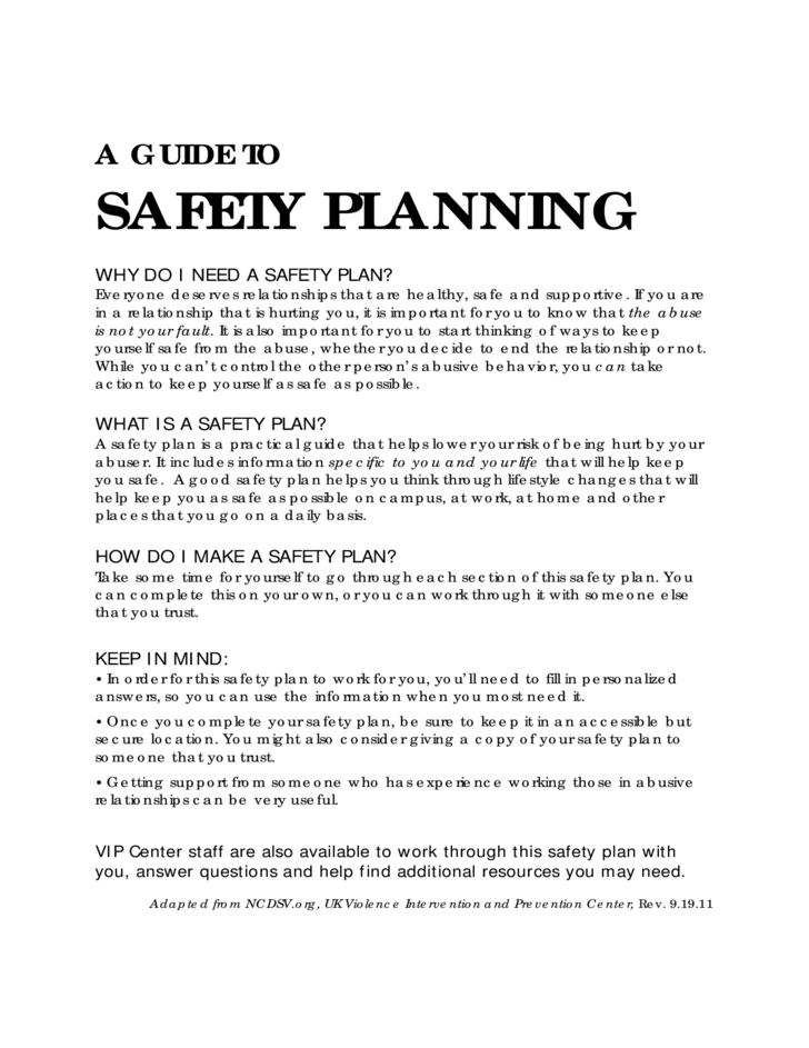 Safety Planning Guide