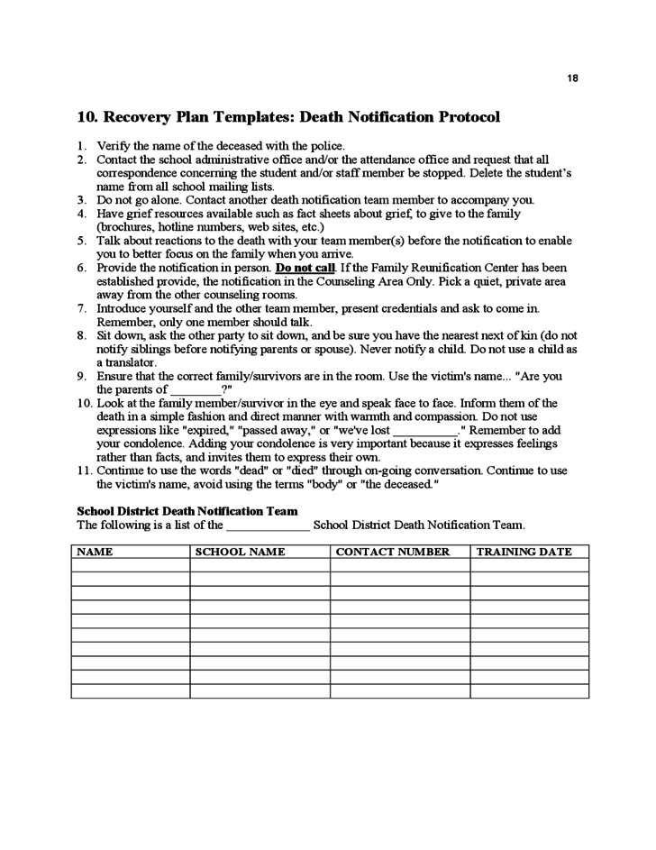 Amazing Safety Protocol Template Inspiration - Examples Professional ...
