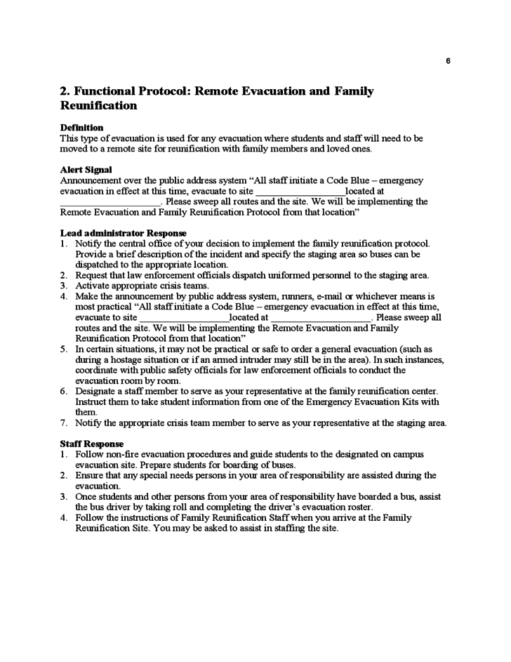 emergency plan template for schools - sample school safety plan template free download