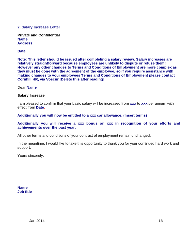 salary increment letter template 2 free templates in pdf