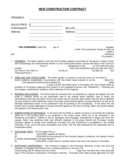 New Construction Contract