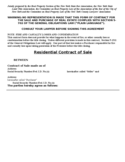 Residential Contract of Sale Template Free Download