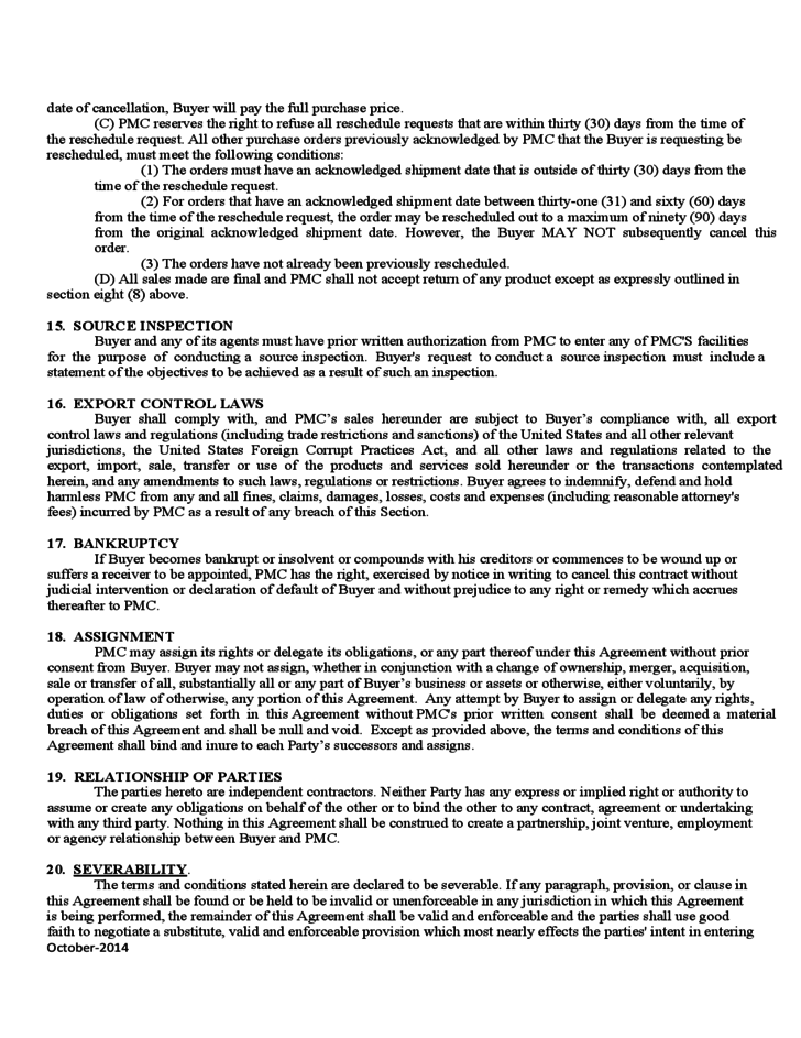 Product Sales Agreement Free Download