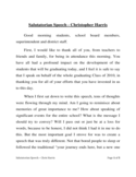 Sample Salutatorian Speech Free Download