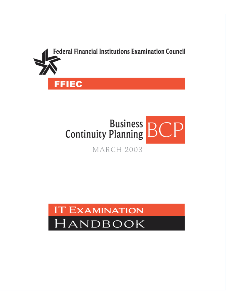 Formal Business Continuity Planning Booklet
