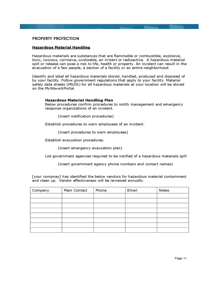 Sample Business Continuity Plan Template Free Download - Business continuity plan template free download
