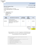 Company Invoice Template Free Download