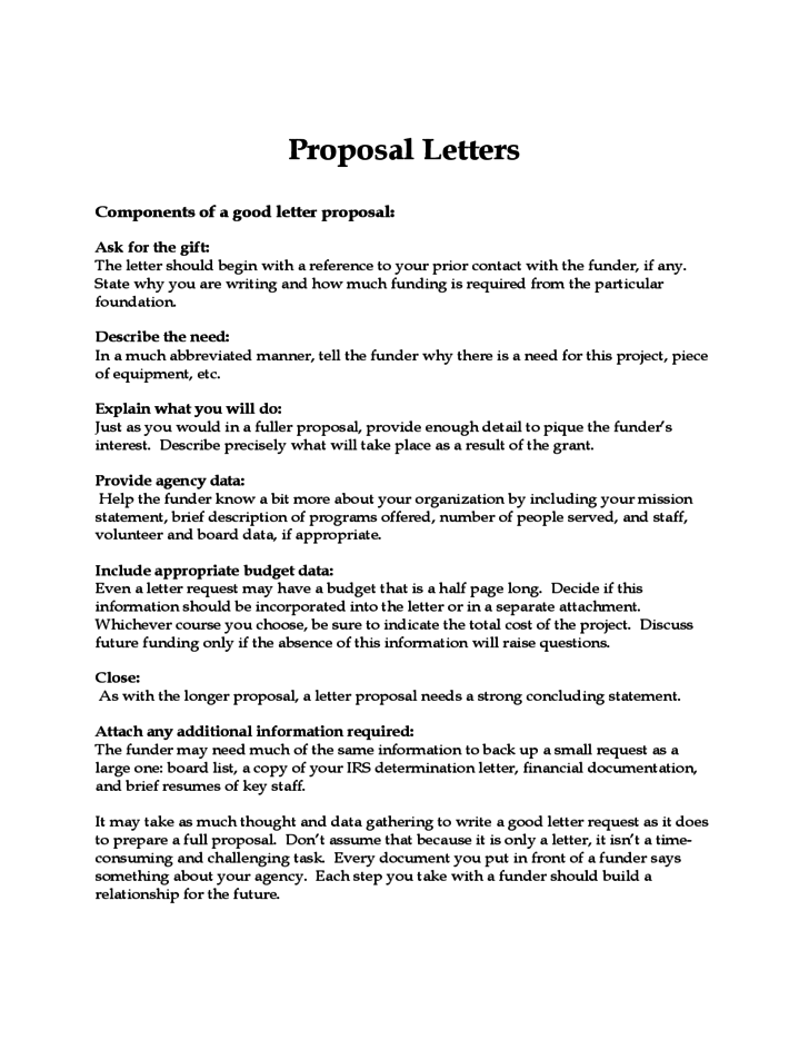 Proposal letters free download spiritdancerdesigns