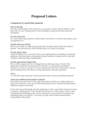 Proposal Letters Free Download