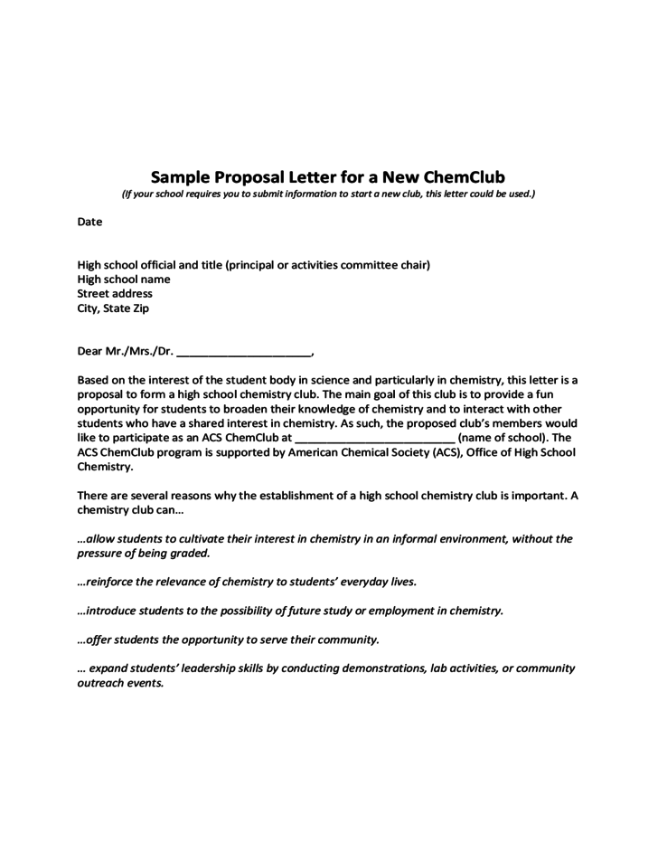 Sample Of A Proposal Letter For School Proposal To Adopt – Sample Letter for Proposal