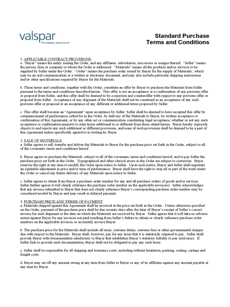 Terms and conditions template 5 free templates in pdf for Standard terms and conditions template free
