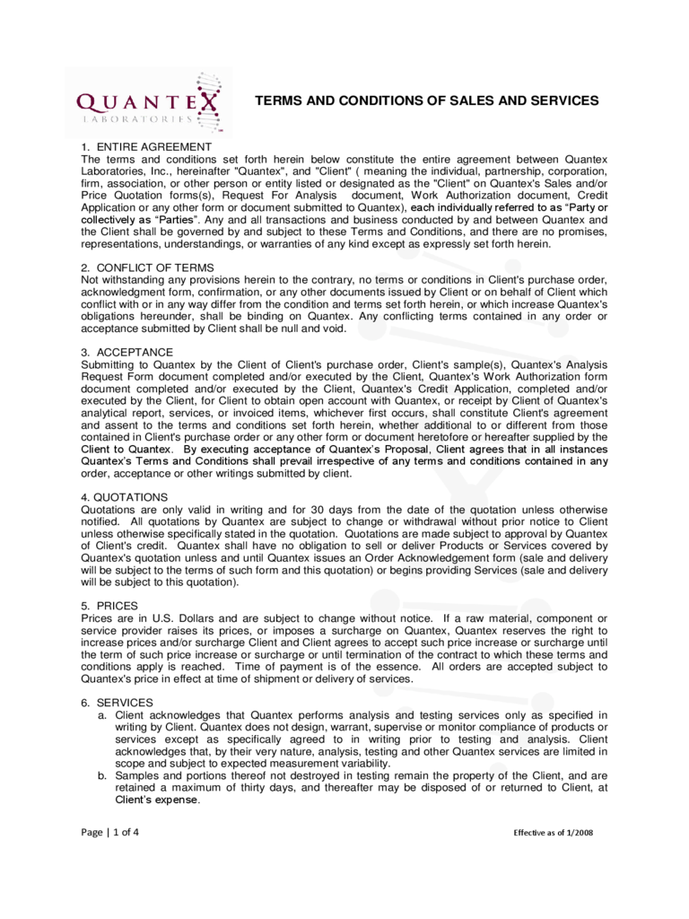 Terms and conditions template 5 free templates in pdf for Free terms and conditions template for services