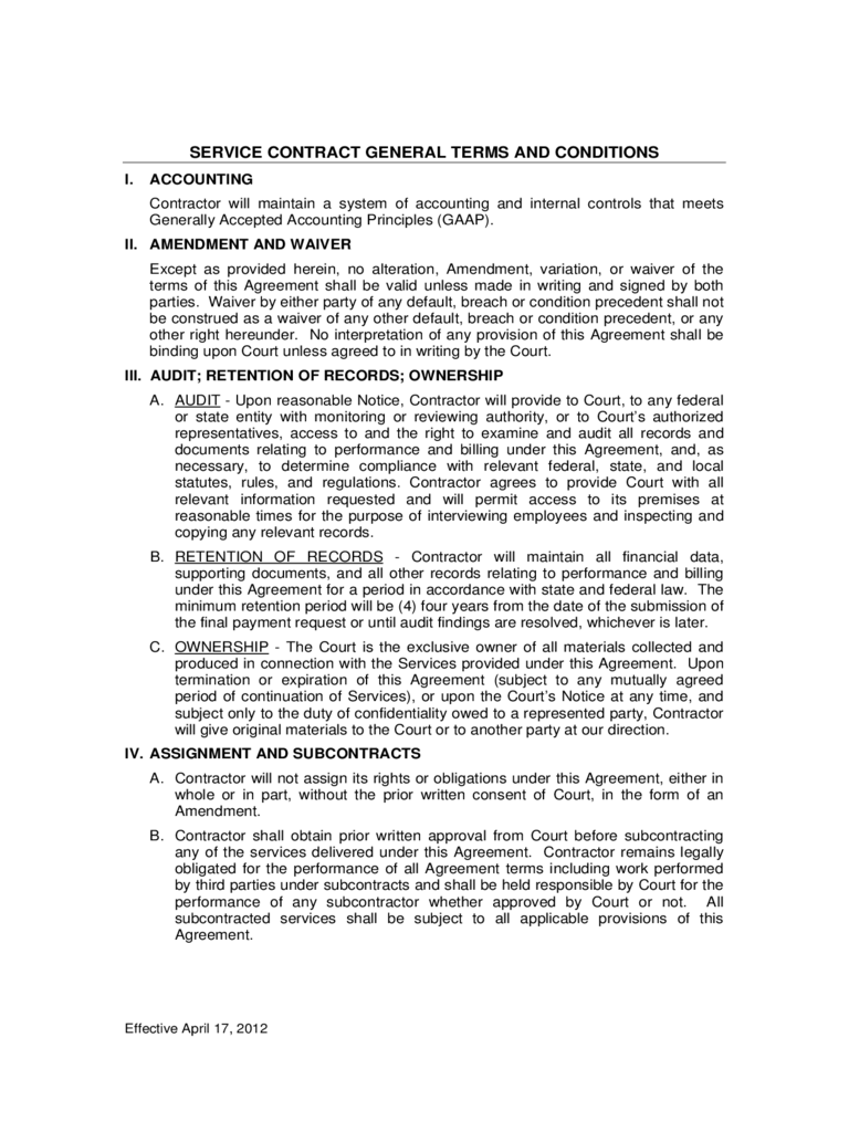 Terms and conditions template 5 free templates in pdf for Terms and conditions of service template