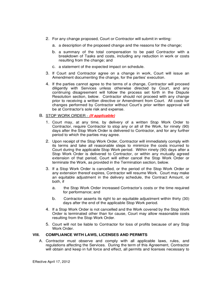 Service Contract General Terms and Conditions