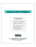 Sample Business Plan Template Free Download