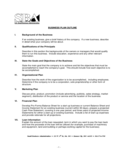 SBA Business Plan Outline Free Download