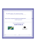 Sample Scholarship Certificate Template Free Download