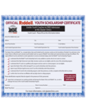 Official Youth Scholarship Certificate Free Download
