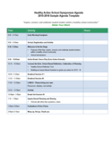 Sample School Agenda Template Free Download