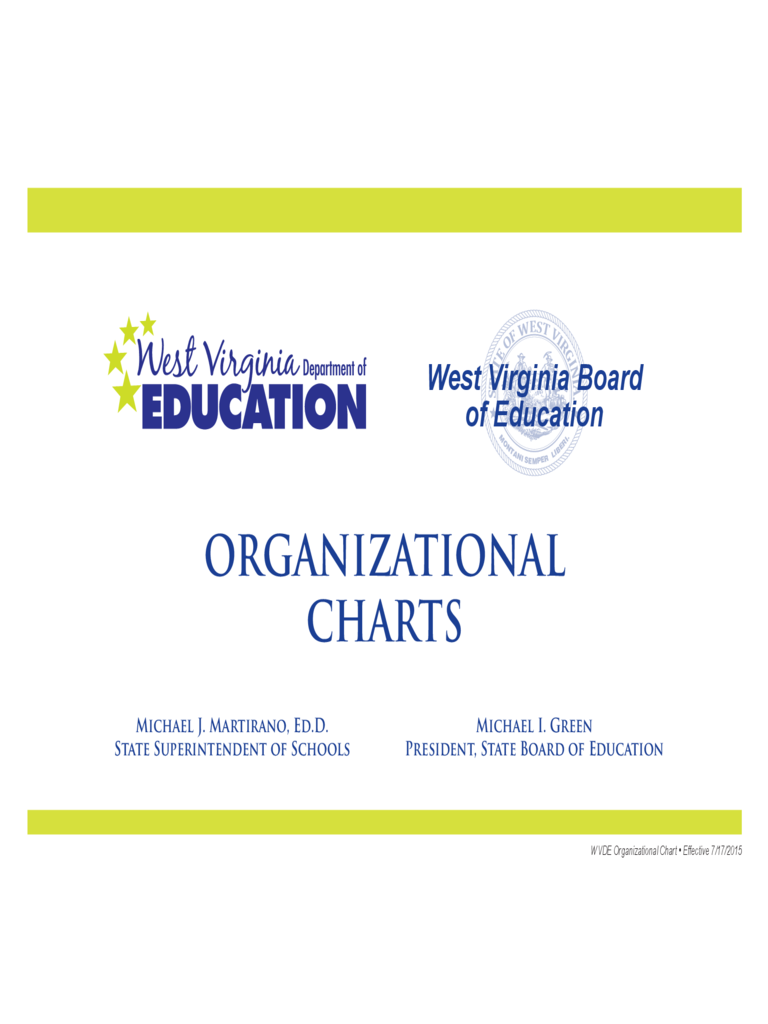 School Organizational Charts - West Virginia Department