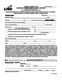 Student Transfer Form - Lewisville Independent School District Free Download