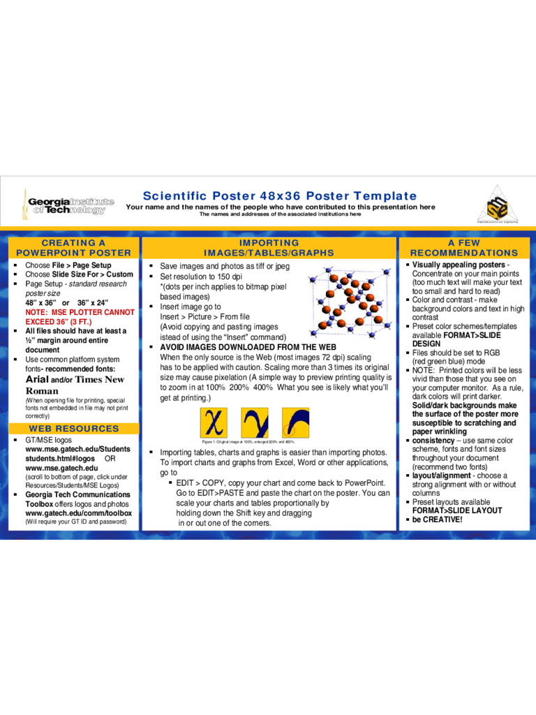 Scientific Poster Template Sample