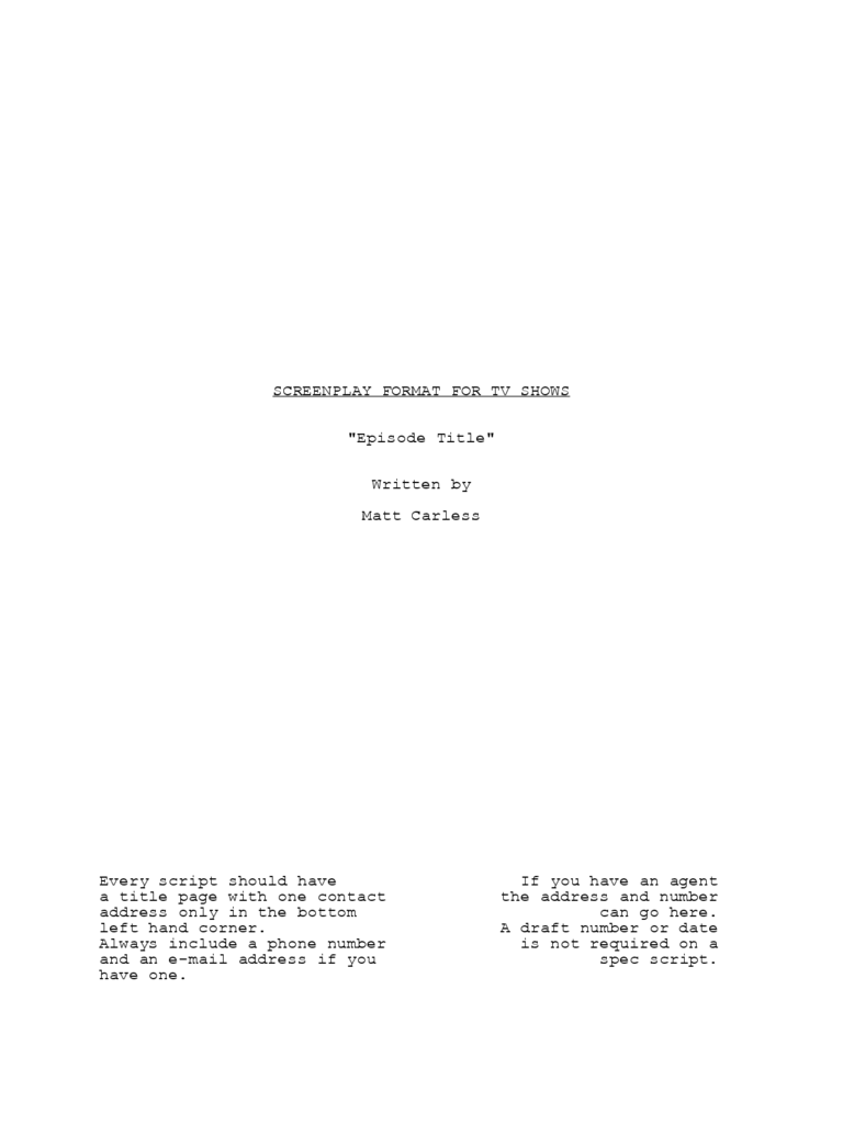 Screenplay template 2 free templates in pdf word excel for Microsoft word screenplay template