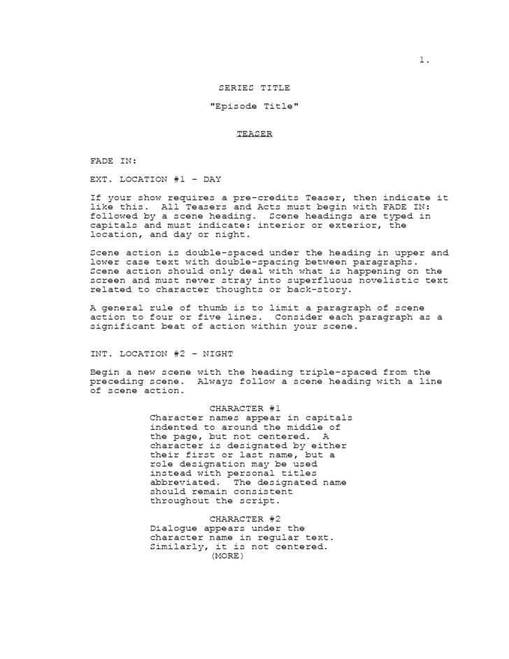 Screen Play Template Pictures to Pin PinsDaddy – Screenplay Template