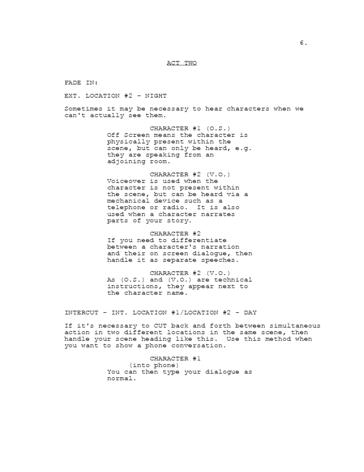 doc 447573 screenplay template how to format a screenplay