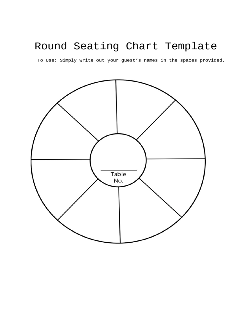 Round Seating Chart Template