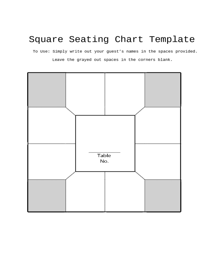 Square Seating Chart Template