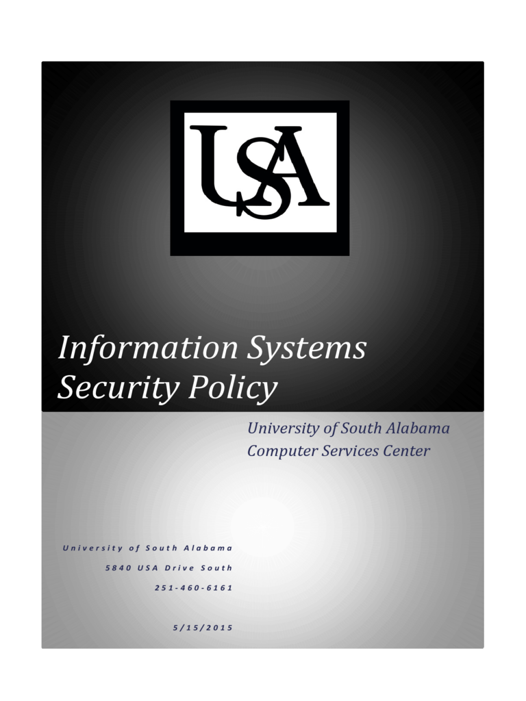 Information Systems Security Policy