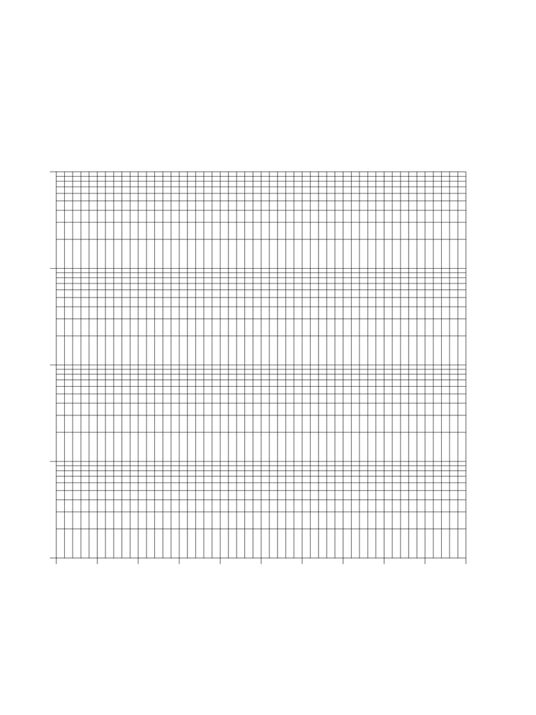 3 Cycle Semi-Log Graph Paper - California State Free Download