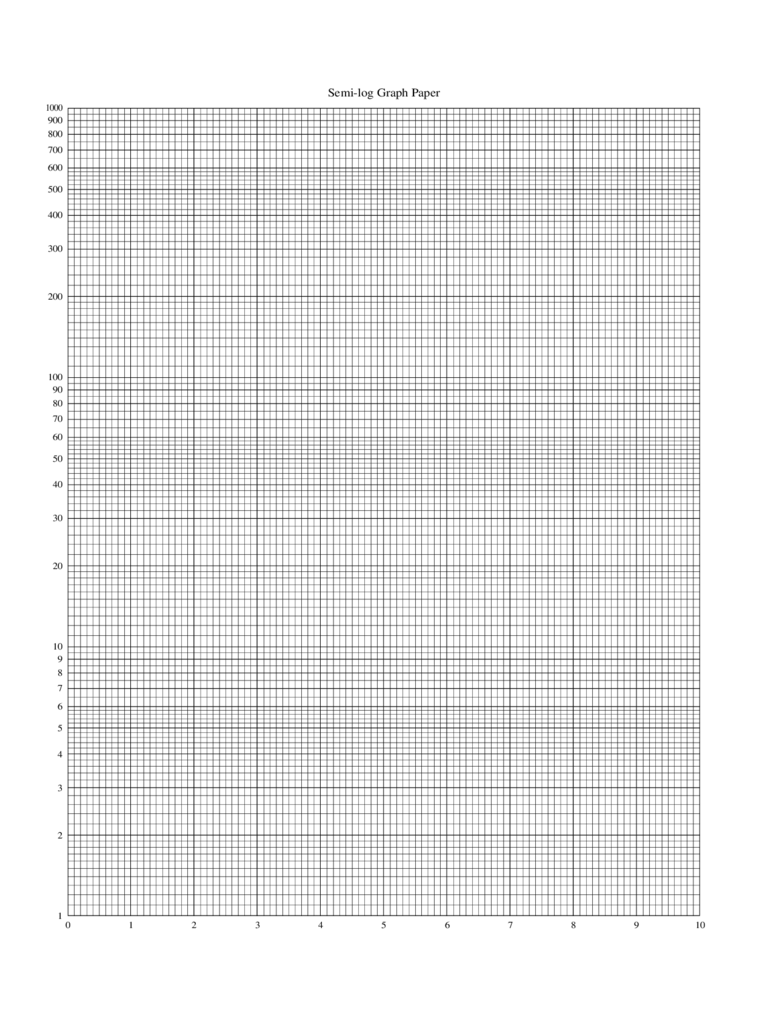 Semi Log Graph Paper Sample Free Download  Graph Paper Word Document
